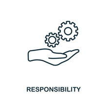 Responsibility Icon. Line Style Element From Personality Collection. Thin Responsibility Icon For Templates, Infographics And More