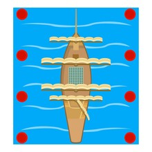 Sailing Vessel Icon. Isometric Illustration Of Sailing Vessel Vector Icon For Web