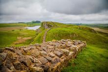 Along The Roman Hadrian's Wall In United Kingdom