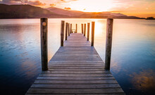 A Jetty At Derwentwater,  Lake District,  Cumbria,  United Kingdom