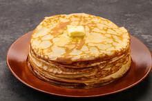 Stack Of Russian Traditonal Pancakes