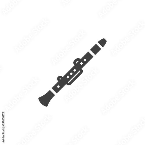 Fotografia, Obraz Clarinet musical instrument vector icon