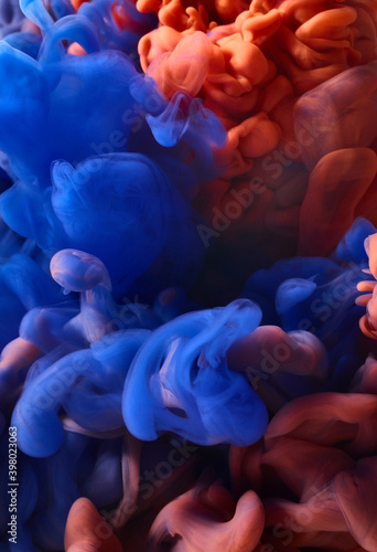 Valokuva Abstract bright paint splash background.