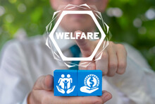 Welfare Family Concept. Financial Well-being And Happy Family Members.