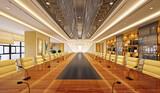 Fototapeta Perspektywa 3d - 3d render of meeting room, office room