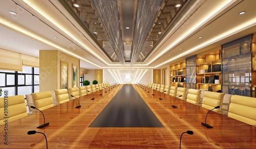 3d render of meeting room, office room Fototapet