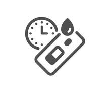 Express Covid Test Icon. Coronavirus Testing Sign. Blood Test Tube Symbol. Quality Design Element. Flat Style Covid Test Icon. Editable Stroke. Vector