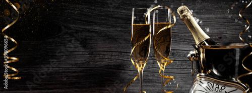 Obraz na plátně Champagner zum Fest
