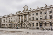 Somerset House - Large Neoclassical Building (1776) In Central London. England, UK.