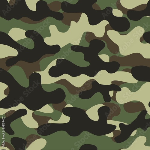 Canvastavla Dot pattern camouflage seamless background in olive green