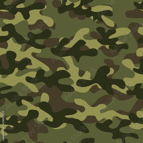 Texture military camouflage repeat print Fototapet