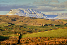 Pen-y-ghent With Snow In The Yorkshire Dales