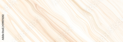 Fotografering Marble wall white brown pattern ink swirl yellow green graphic background abstra