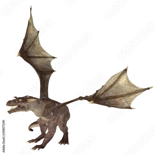 Fototapeta 3d render of a fantasy dragon