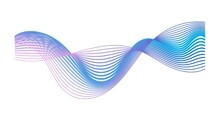 Colorful Gradient Sound Wave Isolated On White Background. Modern Abstract Shape Expressing Musical Rhythm, Frequency And Impulse. Audio Equalizer. Music Visualization Waveform. Vector Illustration