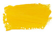 Vector paint brush stroke texture isolated on white - yellow acrylic element for Your design