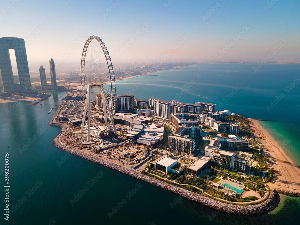 Fototapeta Ain Dubai ferris wheel on Bluewaters island in Dubai, UAE