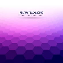Purple Background With Hexagons