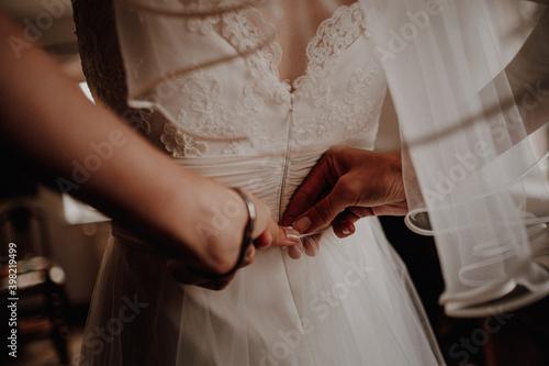 Hochzeit Getting Ready Fototapete