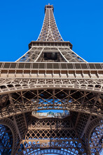 The Eiffel Tower At The Champ De Mars In Paris France Built In 1889 Which Is A Popular Travel Destination Tourist Attraction Landmark Of The City, Stock Photo Image