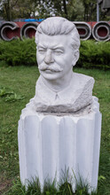 "Sculpture ""Stalin's Portrait"" In The Park Muzeon,marble"