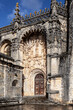 Facade of the Castle of Tomar. Tomar, Portugal