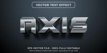 Editable Text Effect - Robotic Metal Style