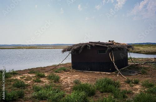 Papel de parede cabane de chasseurs, Bassin d'Arcachon, Landes de Gascogne, 33, Gironde