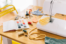 Sewing Table At Home