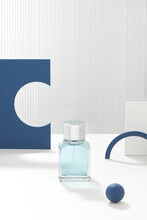 Creative Perfume Bottle Composition.