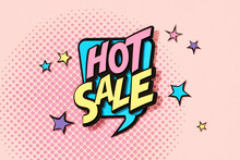 HOT SALE Word On Pink Background