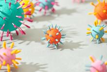 Abstract Coronavirus Strain Model From Wuhan, China.