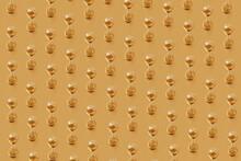 Golden Vintage Hourglass Pattern .