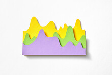 Papercraft Colorful Curver Line Charts.