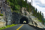 Tunnel connecting East and West Glacier National Park