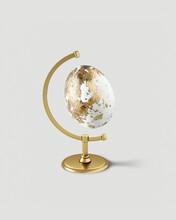 Easter Golden Egg As A Globe.