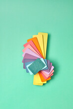 Colorful Set From Wooden Plates.