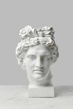 Gypsum Statue Of Goddess Head.