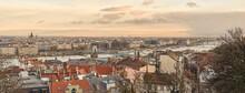 Panoramic Urban View Above City Budapest, Hungary.