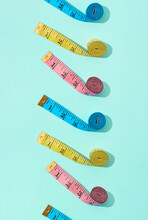 Vertical Set From Measuring Tapes.