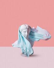 Venus Goddess Statue With Headscarf.