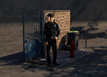 Cop Environmental Portrait