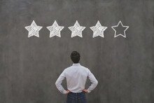 5 Star Rating, Reputation Management Concept, Feedback