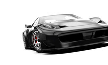 Black Generic Sport Car Isolated On A White Background