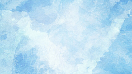 Abstract winter blueand white watercolor background
