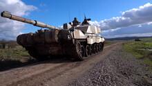 British Challenger 2 Main Battle Tank, Demonstrating Firepower On Salisbury Plain Training Grounds