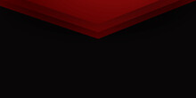 Abstract Modern 3d Red Black Background With Triangle Arrow Geometric Overlap Shape Elements