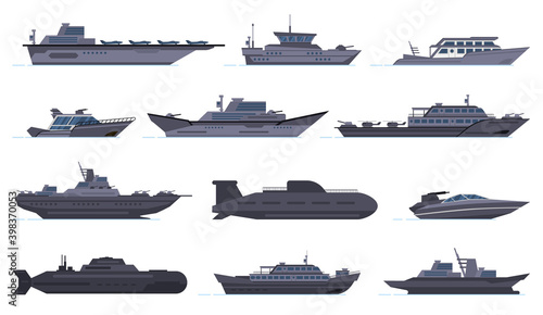 Stampa su Tela Military ships