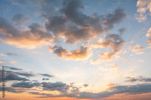 Fototapety, obrazy: Sunset sky for background or sunrise sky and cloud at morning.