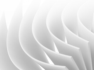 Abstract bent white pages pattern, cgi background